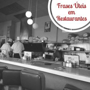 {Atualização de Posts} Frases Úteis em Restaurantes