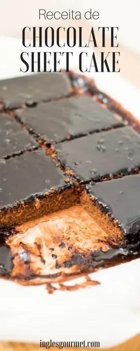 Receita de Chocolate Sheet Cake | Inglês Gourmet