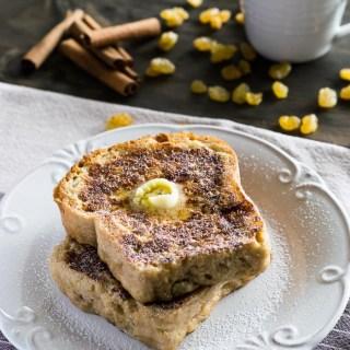 Receita de French Toast com Pão de Canela e Passas | Inglês Gourmet
