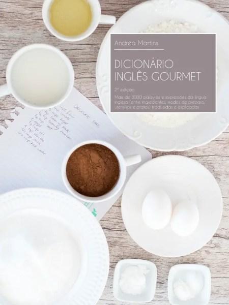 2ª edição do ebook Dicionário Inglês Gourmet