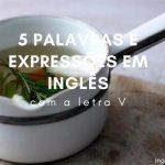 """5 Palavras e Expressões em Inglês com a Letra """"V"""""""