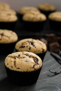 Receita de Muffins com Pedaços de Chocolate