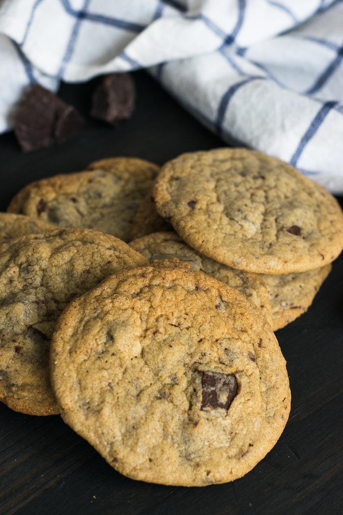 Receita de Cookies com pedaços de chocolate {Chocolate Chunk Cookies} | Inglês Gourmet