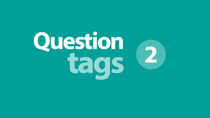 usos de los question tags explicaciones