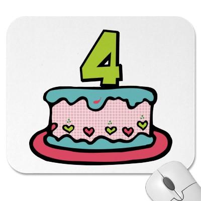 aniversário 4 anos
