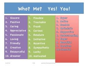 Adjetivos bons e positivos