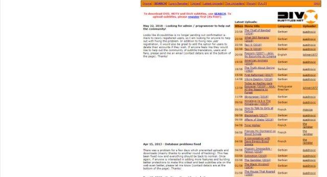 site para legendas em ingles - divx subtitles