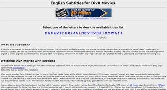 site para legendas em ingles - english subtitles for divx movies