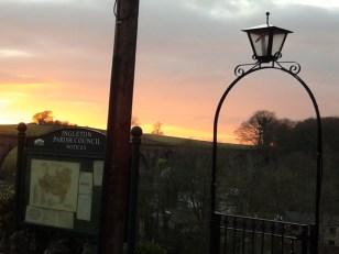 ingleton at sunset