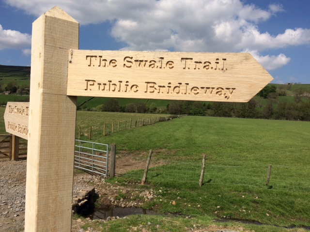 1st ride on newly opened Swale Trail – mountain bike route