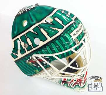 Josh Harding Toque Mask Minnesota Goalie-4