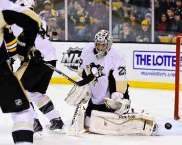 Marc-Andre Fleury has the highest goalie GP/y score with 46.