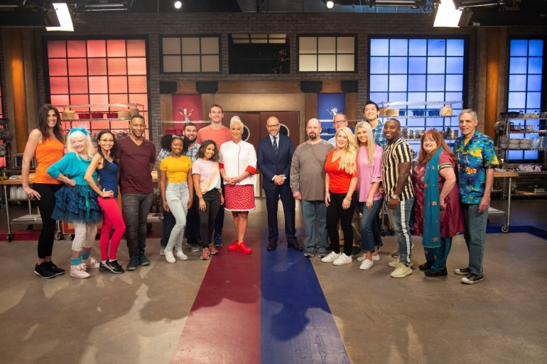 The cast and contestants of Food Network's Worst Cooks in America.