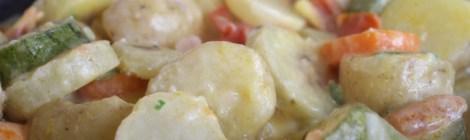 Cozido de Legumes com Creme de leite