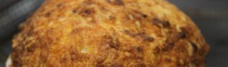 Souflé de queijo e bacon