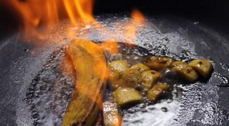 Banana flambada na cachaça
