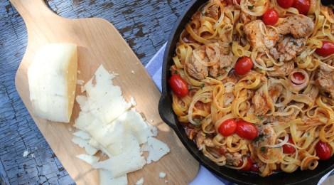 Desafio Santa Amália | Fettuccine com lombinho suíno
