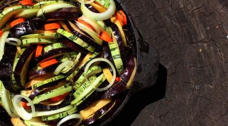 Legumes ao forno com molho