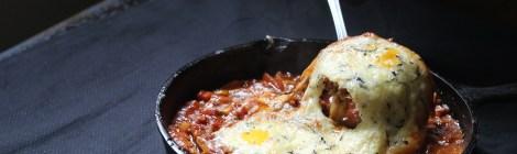 No forno | Carne moída e ovos