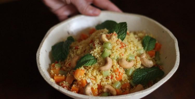 Salada morna de Couscous