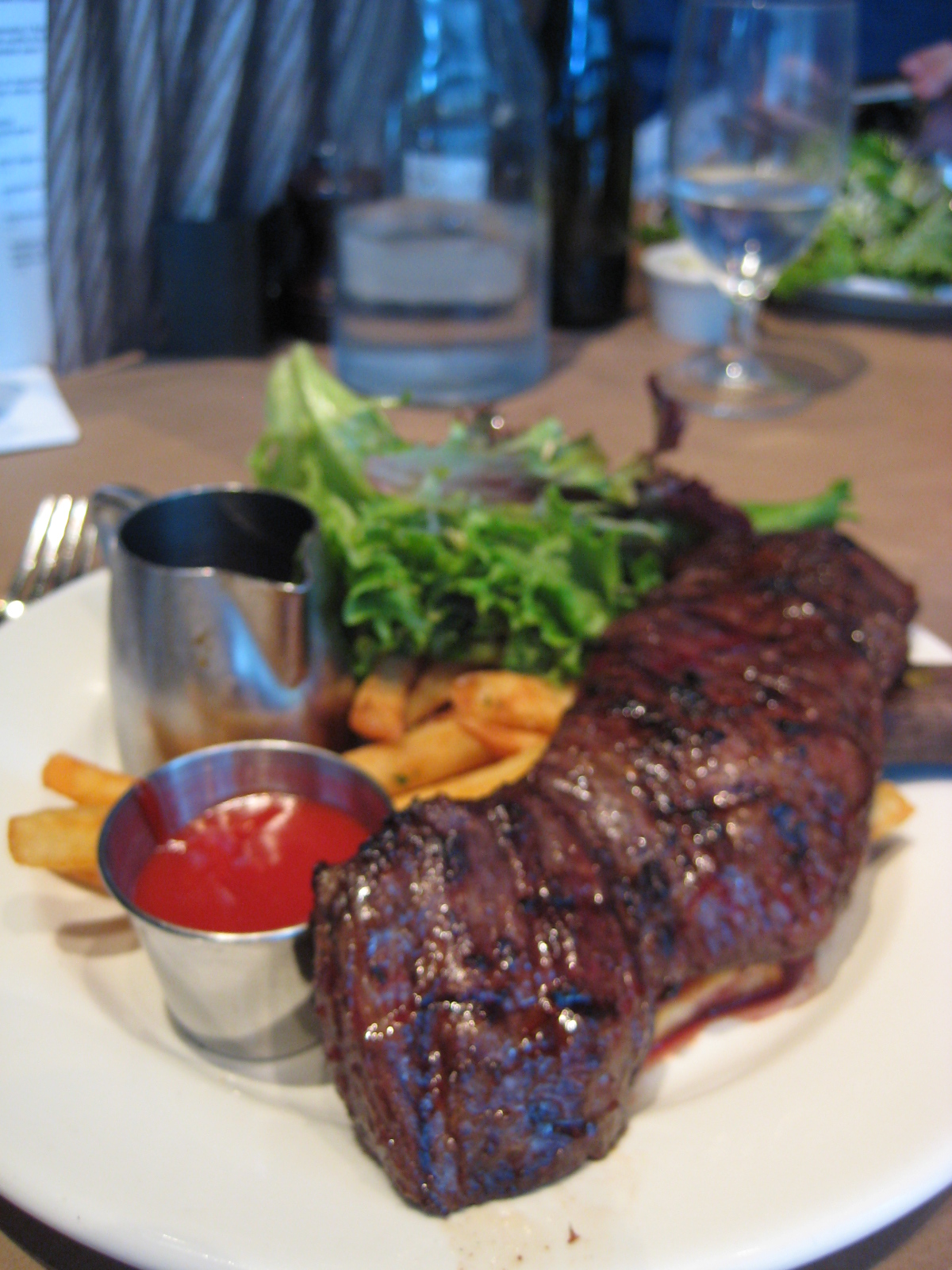 Hangar Steak with Bearnaise Sauce