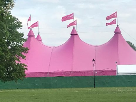 The marvellous pink marquee