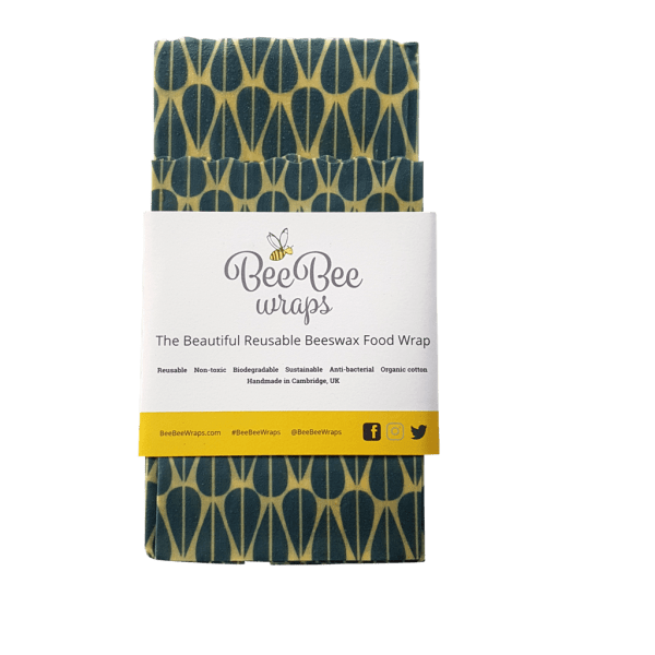 Bee Bee Reusable Food Wraps Green