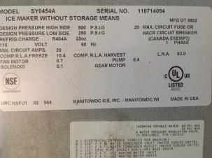 Maquina de Hielo Manitowoc de 460 libras en Managua Nicaragua 6