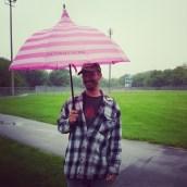 Jason, donning my umbrella