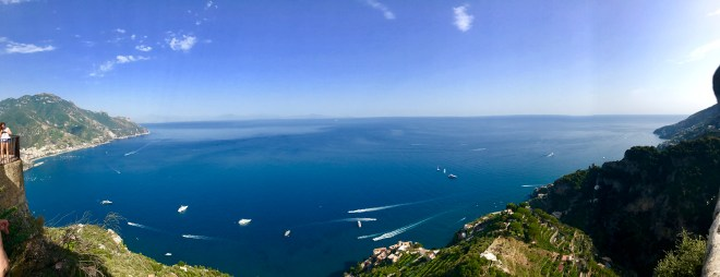 Sea view from atop of Villa Cimbrone