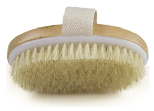 : Wholesome Beauty Dry Skin Brush features all-natural bristles of the finest grade. High Quality wood handle. Travel pouch included. And a stick-on hook is included