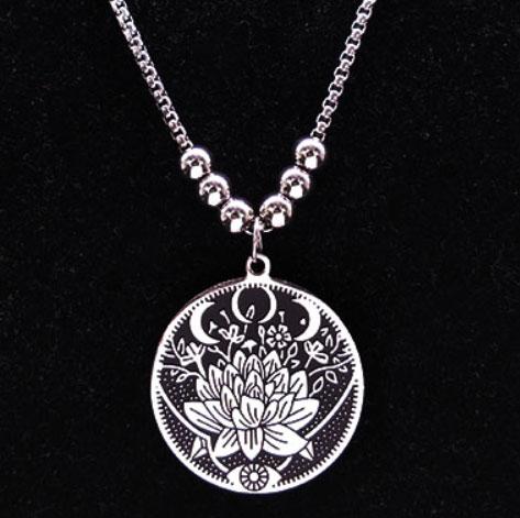 Symbolisch cadeau Balans Kracht ketting Lotus