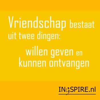 Spreuk vriendschap