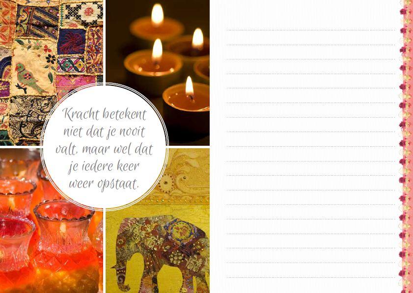 Quote over kracht in het inspiratie notebook | ingspire