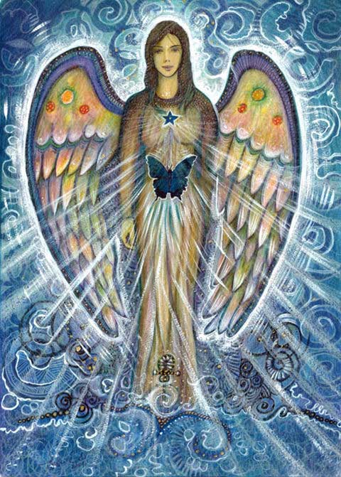 Namaste Zegening Kaart Engel