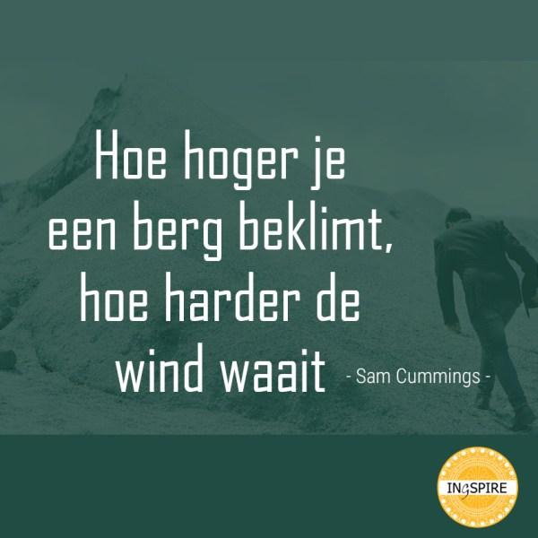 Hoe hoger je een berg beklimt hoe harder de wind waait