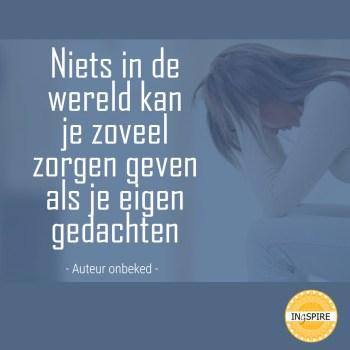 Spreuk je eigen gedachten.... | www.ingspire.nl