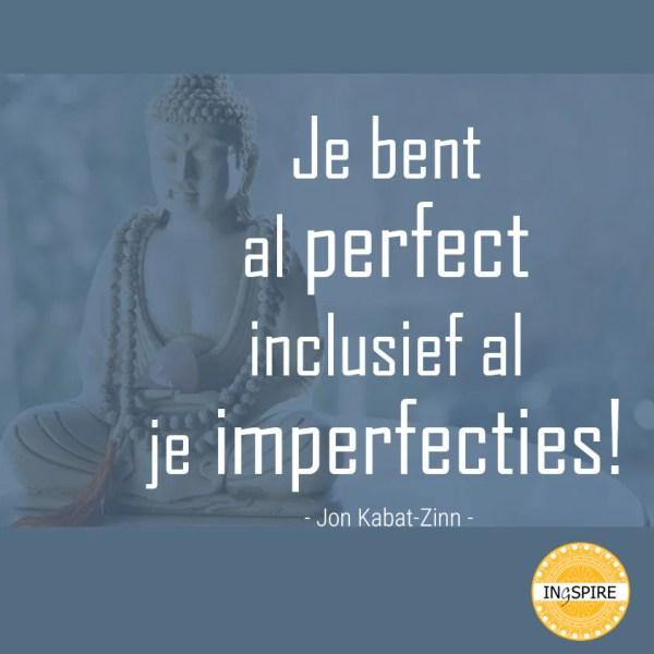 Je bent al perfect inclusief al je imperfecties - quote over de kracht van kwetsbaarheid