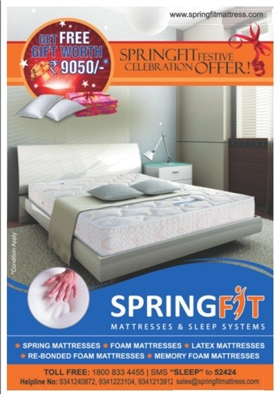 Spring Fit Mattress Sleep Systems Festival Offer