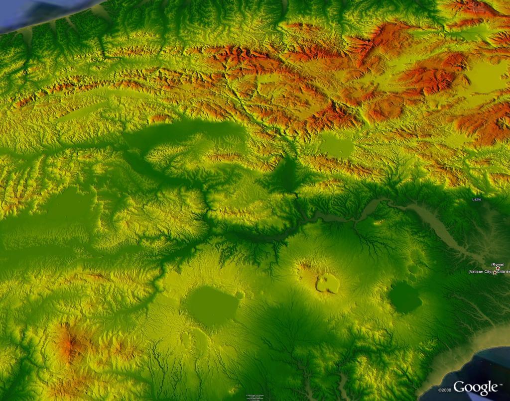 topografia digitale italia centrale