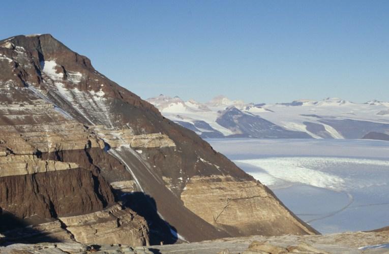 sequenza stratigrafica in Antartide