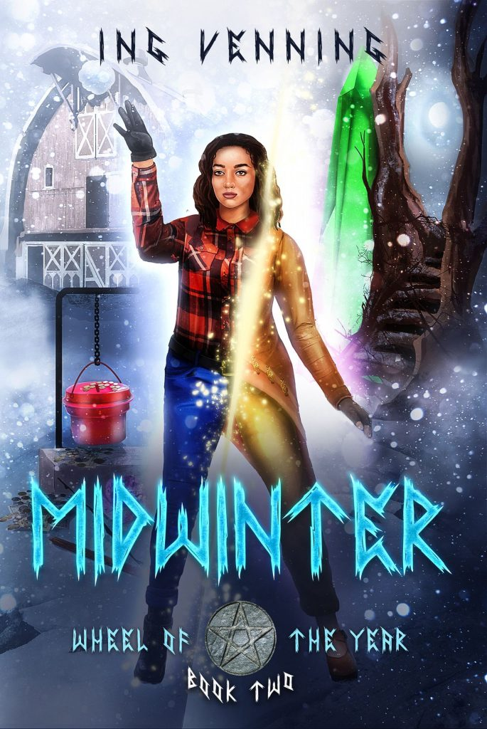 Midwinter, the second Wheel of the Year book, from pagan author Ing Venning. This fantasy novel takes place on and around the winter solstice.