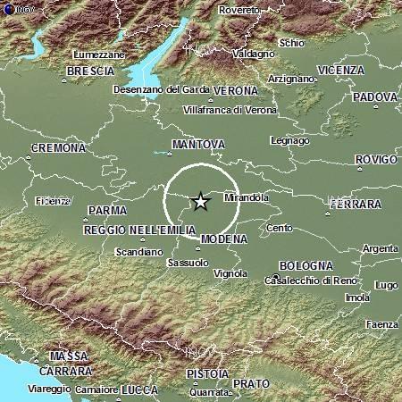 Terremoto in Pianura Padana Emiliana: evento M4.5, 29 maggio ore 10.25