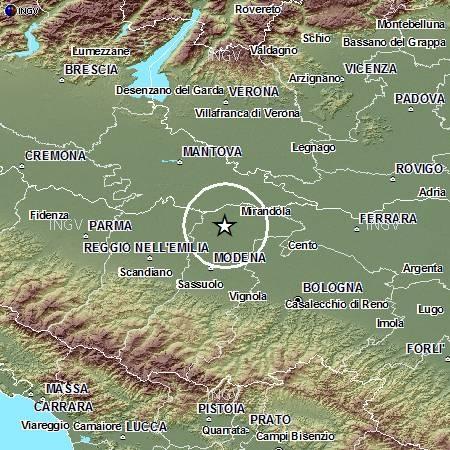 Terremoto in Pianura Padana Emiliana: evento M4.2, 29 maggio ore 10.40