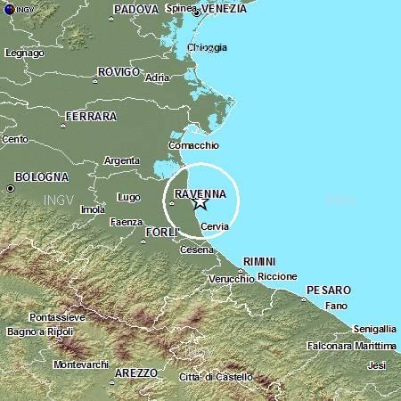 Terremoto in provincia di Ravenna: evento M4.5, 6 giugno ore 06.08
