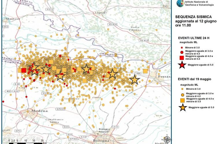 Terremoto in Pianura Padana Emiliana: M 4.3, 12 giugno ore 03.48