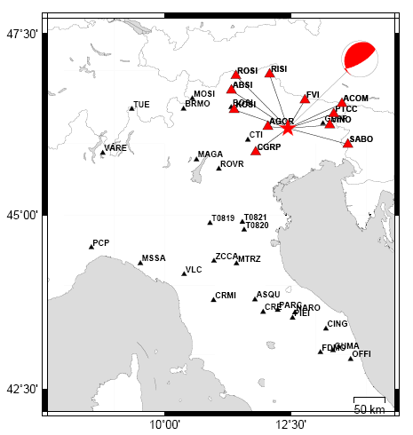 Terremoto nelle Prealpi Venete 9 giugno 2012 – Meccanismo focale