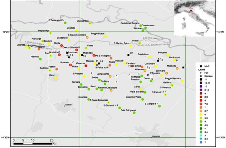 Terremoto Pianura Padana Emiliana: rapporto macrosismico degli effetti dei terremoti del 20 e del 29 maggio