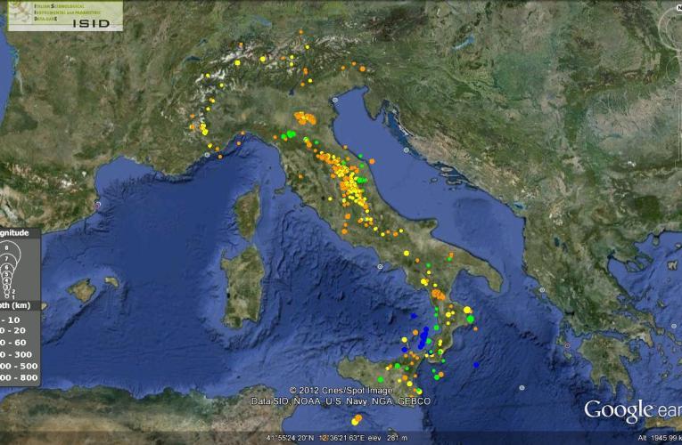 Italia sismica: i terremoti della prima metà di Settembre 2012