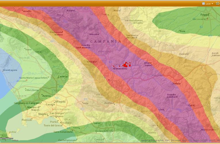 Terremoto in provincia di Benevento, M4.1, 27 settembre ore 03.08: approfondimento